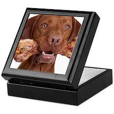 dog with bone Keepsake Box