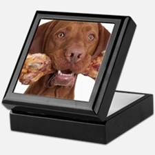 dog with bone Keepsake Box