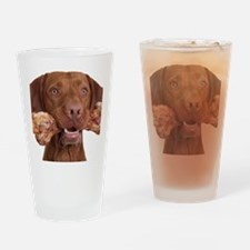 dog with bone Drinking Glass