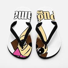 Pug Mama Flip Flops