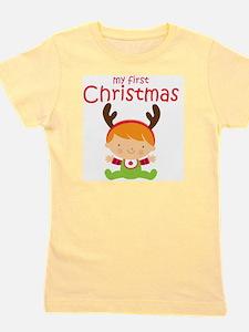 Reindeer Boy 1st Christmas Girl's Tee