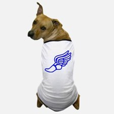 Blue Running Shoe With Wings Dog T-Shirt