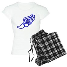 Blue Running Shoe With Wings pajamas