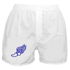 Blue Running Shoe With Wings Boxer Shorts