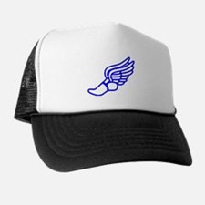 Blue Running Shoe With Wings Hat