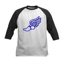 Blue Running Shoe With Wings Baseball Jersey