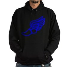 Blue Running Shoe With Wings Hoody
