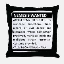Nemesis Wanted Throw Pillow