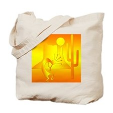Kokopelli Desert Abstract #4 Tote Bag