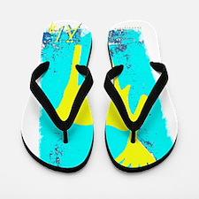 Elch Gelb Flip Flops
