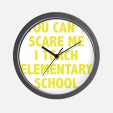 scareSchool1D Wall Clock
