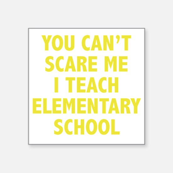 "scareSchool1D Square Sticker 3"" x 3"""