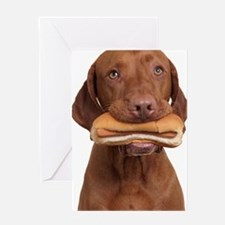 Hot dog dog Greeting Card