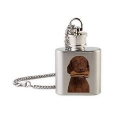 Hot dog dog Flask Necklace