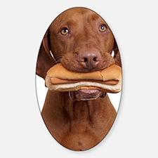 Hot dog dog Sticker (Oval)