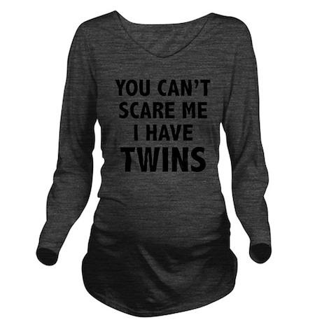 scareTwins1A Long Sleeve Maternity T-Shirt