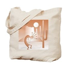 Kokopelli Desert Abstract #9 Tote Bag