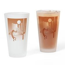 Kokopelli Desert Abstract #9 Drinking Glass