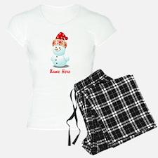 Cute Baby Snowman Cartoon Pajamas