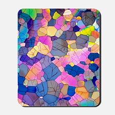 Caffeine crystals, light micrograph Mousepad