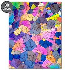 Caffeine crystals, light micrograph Puzzle