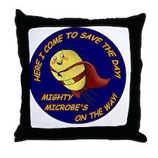 Mighty Microbe! Throw Pillow