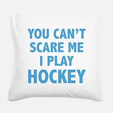 scarePlayHockey1C Square Canvas Pillow