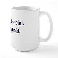 Anti-Social Blue Mug