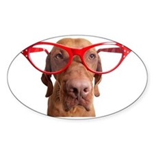 dog with oversize glasses Decal