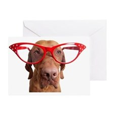 dog with oversize glasses Greeting Card