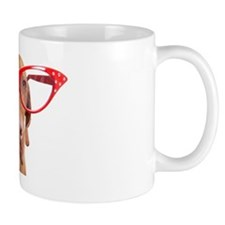 dog with oversize glasses Mug