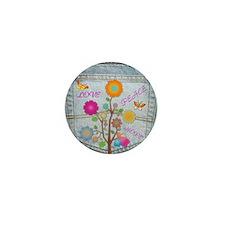Denim Pocket Peace Love Hope Mini Button