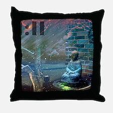 11:11 Buddha Throw Pillow