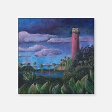 "Jupiter Lighthouse Square Sticker 3"" x 3"""