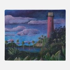 Jupiter Lighthouse Throw Blanket