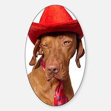 Christmas cowboy dog Decal