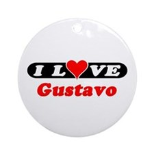 I Love Gustavo Ornament (Round)