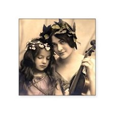 """Mother and child Square Sticker 3"""" x 3"""""""