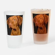 vizsla portrait Drinking Glass
