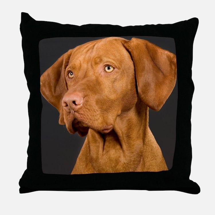 vizsla portrait Throw Pillow