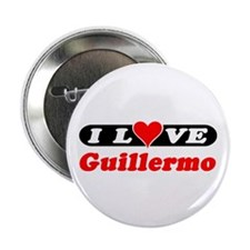 "I Love Guillermo 2.25"" Button (100 pack)"