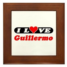 I Love Guillermo Framed Tile