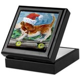 Basset hound Keepsake Boxes