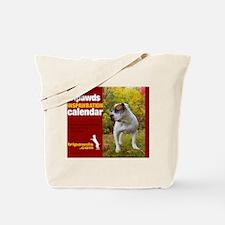 Tripawds Three Legged Dog Calendar Tote Bag