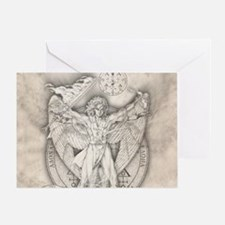 Uriel allover Greeting Card