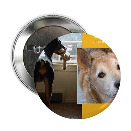 "Tripawds Three Legged Dog Calendar 2.25"" Button"