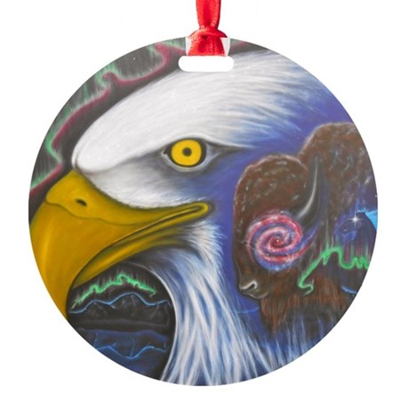 Watch Over Us Round Ornament
