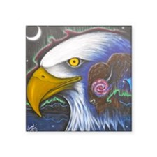 """Watch Over Us Square Sticker 3"""" x 3"""""""