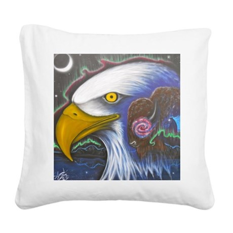 Watch Over Us Square Canvas Pillow