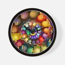 Textured Spiral 2 Wooden Wallclock 16 i Wall Clock